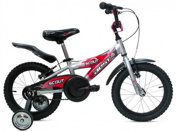 """Bicicleta Scout 16"""" Rojo - niños 3 a 5 años"""