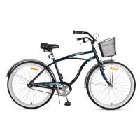 """Bicicleta Urbana MALIBU Cruiser 26"""" H - Azul"""
