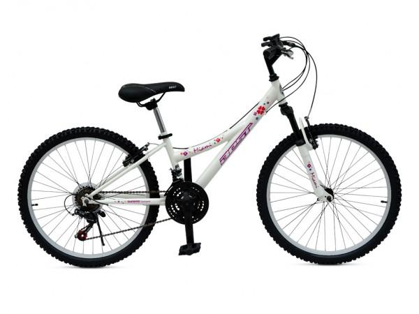 """Bicicleta Miami 24"""" Blanco - niñas 8 a 12 años"""