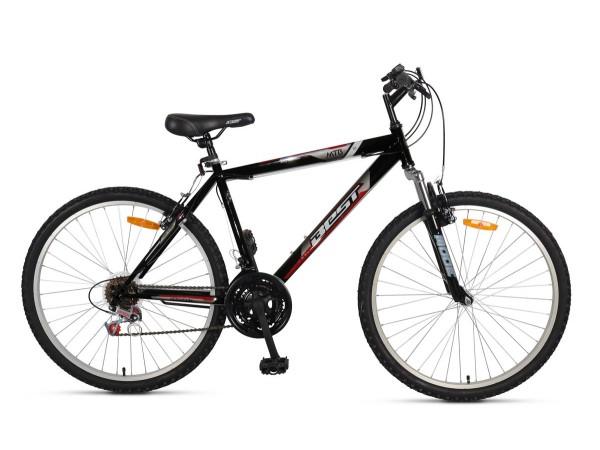 """Bicicleta Montañera MTB 100 26"""" Negro"""