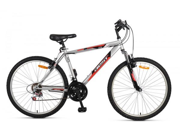 """Bicicleta Montañera MTB 100 26"""" Gris"""